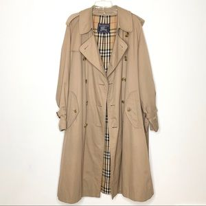 Burberry Trench Coat Novacheck Lining Size 40R